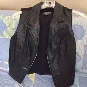 Maxima Wilson Black Leather Vest